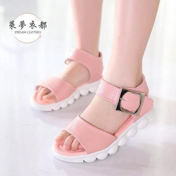 女童涼鞋 新款女童涼鞋夏季軟底沙灘鞋韓版兒童涼鞋女中大童平底學生鞋