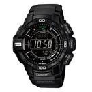 CASIO PRO TREK系列 酷炫黑冒險家專屬太陽能錶(PRG-270-1A)-黑x54mm