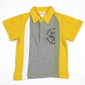 【愛的世界】純棉河馬印圖POLO短袖上衣-台灣製-  --春夏上著 夏出清