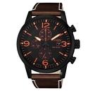CITIZEN 星辰 光動能 計時黑殼腕錶 CA0617-11E