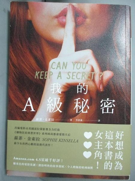 【書寶二手書T7/翻譯小說_HOY】我的A級秘密_蘇菲.金索拉,  牛世竣