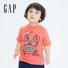 Gap男幼童 純棉趣味印花短袖T恤 698007-橙色