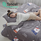 [小日常寢居]#HT028#絲柔親膚奧地利TENCEL天絲5尺雙人床包+枕套三件組(不含被套)台灣製/萊賽爾Lyocell