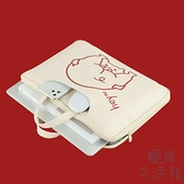 手提電腦包適用蘋果華碩13.3/15寸紅米可愛簡約【極簡生活】