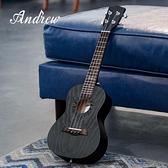 andrew安德魯23寸黑色桃花心木尤克里里烏克麗麗學生初學小吉他