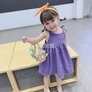 小女孩新款裙子仙女裙兒童吊帶洋裝童裝網紅女童洋氣夏裝 夏沫之戀