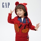 Gap男幼童 Gap x Disney 迪士尼系列米奇印花連帽外套 734957-紅色