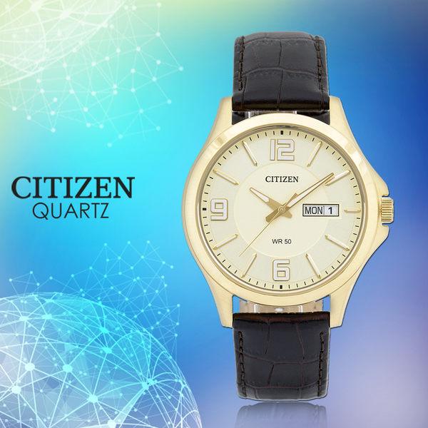 CASIO 手錶專賣店 國隆 CITIZEN星辰 BF2003-09P 石英錶 日 期/星期 皮革 男錶