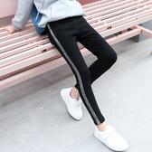 衣童趣 秋冬 中大女童 彈力牛仔褲 百搭款鉛筆褲 側邊亮條造型 內搭褲【現貨】