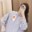 襯衫 女中長款2021春秋新款韓版潮寬松設計感小眾港風上衣【牛年大吉】