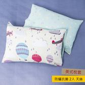 HOLA 雨中飛行防蟎抗菌天絲美式枕套 2入