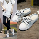 拖鞋女鞋外穿涼拖夏季新款時尚百搭懶人小白包頭半拖單鞋