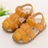男童鞋 沙灘鞋男童牛筋底寶寶防滑包頭涼拖鞋子 綠光森林