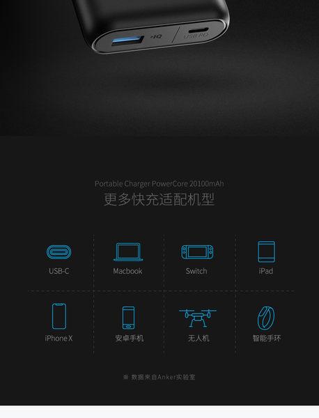 Switch專用行動電源 ANKER PowerCore Speed20000+ PD雙向快充大容量20000 完勝紫米10
