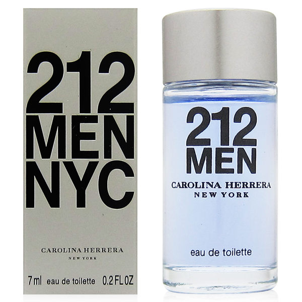 CH Carolina Herrera 212 MEN都會男性淡香水 7ml【QEM-girl】