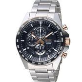 精工SEIKO三眼競速計時腕錶 8T67-00H0KS(SSB323P1)