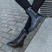 秋冬季馬丁靴男士軍靴高筒加絨棉鞋男短靴正韓潮流皮靴馬靴男靴子【好康八九折下殺】
