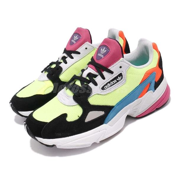 【五折特賣】adidas 老爹鞋 Falcon W 黃 藍 橘 彩色 女鞋 運動鞋 【ACS】 CG6210