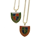 Roberta di Camerino 義大利極盾牌造型項鍊(紅/綠)990158