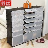 簡易鞋櫃經濟型防塵多層組裝家用省空間鞋架多功能簡約現代門廳櫃 卡布奇诺igo