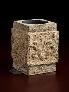 對比匠心坊新中式古典特色石制宜家家居工藝品擺件-雜藝
