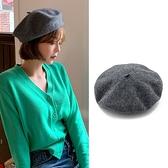 貝雷帽女英倫復古畫家百搭帽子蓓蕾帽【少女顏究院】