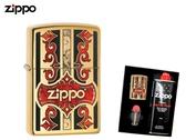【寧寧精品】Zippo 原廠授權台中30年旗艦店 防風打火機 送精美禮盒組 金色純銅 Logo品牌 4395-2