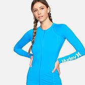 HURLEY|女 LONG SLEEVE ZIP RASHGUARD 防磨衣長袖