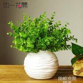 仿真植物仿真綠植套裝擺件家居小盆栽裝飾花塑料假花假草客廳擺件 韓語空間