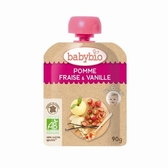 法國Babybio  有機蘋果草莓纖果泥