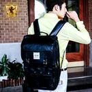 後背包 韓系學院質感雙金屬扣口袋電腦包 NEW STAR BK158