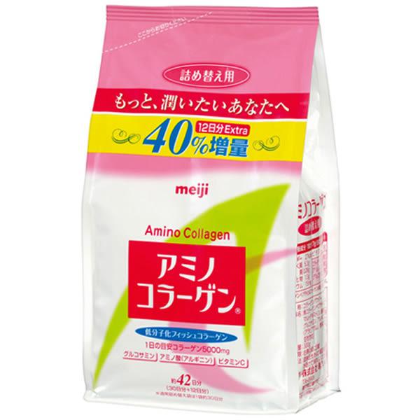 Meiji Amino 膠原蛋白粉-42天份加量版(補充包300g)【小三美日】