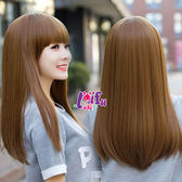 來福,W34假髮超柔順飛柔黎花頭中長直髮假髮附實拍,售價450元