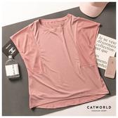 Catworld 拼接網眼寬版快乾罩衫運動T【11601984】‧S-XL