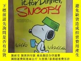 二手書博民逛書店英文書罕見Let s hear it for Dinner, SNOOPY(32開,詳見圖片) 扉頁有字跡Y1