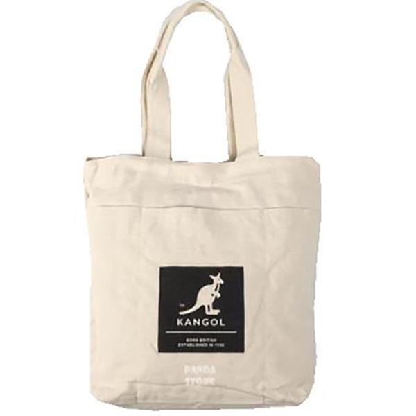 【南紡購物中心】~雪黛屋~KANGOL 托特包購物袋大容量可A4資料夾進口防水帆布材質