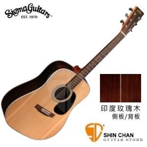 【41吋單板民謠吉他】Sigma  DR-1ST【DR1ST/雲杉面單板/玫瑰木側背板/經典D桶】【木吉他】