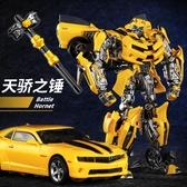 汽車模型 威將變形玩具金剛模型合金版電影戰刃大黃蜂汽車眩暈機器人手辦