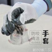 小寵物用品 倉鼠防咬手套 兔子龍貓豚鼠天竺鼠荷蘭豬防咬手套 moon衣櫥