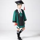幼兒園博士服兒童畢業照服裝博士帽拍照衣服畢業禮服小學生學士服 蘿莉新品