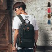 後背包 89.Alley 復古 帆布配真皮 多色 大容量 街頭風 電腦包 筆電後背包 後背包 HB89105