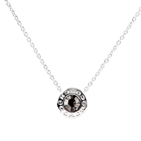 【COACH】圓形水鑽項鍊(銀色) F54514 SLV