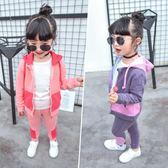 運動套裝女童洋運動衛衣兩件式 新主流