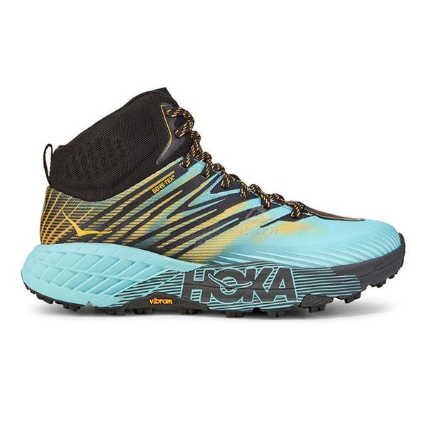【HOKA】Speedgoat 女GT中筒運動健行鞋 『島沙藍/黃』1106533 功能鞋.多功能鞋.休閒鞋.登山鞋