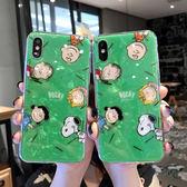 【SZ15】綠色史努比貝殼紋 OPPO R17手機殼 R11S R11 R9 R9S手機殼 R9S plus手機殼 R11S plus手機殼 A59 A57 A73