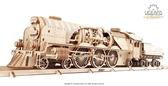 Ugears 虧雞Train V-Express Steam Train with Tender 工業革命火車頭