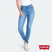 Levis 女款 721 高腰緊身窄管 / 彈性牛仔褲 / 淺藍刷白