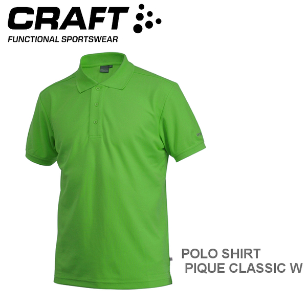 【速捷戶外】瑞典CRAFT 192466 男短袖排汗POLO衫(亮綠) POLO SHIRT PIQUE CLASSIC M
