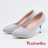 itabella.奢華閃耀尖頭高跟鞋(0225-88銀色)