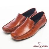 CUMAR英倫風格●樂活生活淺口帆船樂福鞋-褐色